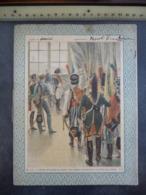 """Ancien Protège-cahier Couverture """"NAPOLEON ET L'ENVOYE PRUSSIEN"""" (CAHIER COMPLET) - Protège-cahiers"""