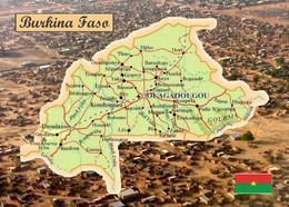 Burkina Faso Country Map New Postcard Landkarte AK - Burkina Faso