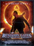 Aff Cine Orig BENJAMIN GATES & LE TRESOR DES TEMPLIERS (2004) Nicolas Cage 40X60 - Posters