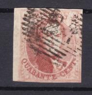 N° 8 Margé Aminci  Bord De Feuille - 1851-1857 Medaillen (6/8)