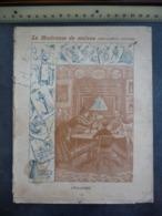 """Ancien Protège-cahier Couverture """"LA MAITRESSE DE MAISON - Ménage Et Cuisine - L'ECLAIRAGE"""" (CAHIER COMPLET) - Protège-cahiers"""