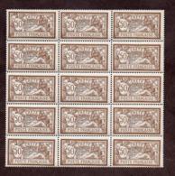 Crète N°12  Panneau De 15 N** LUXE Cote 525 Euros !!!RARE - Crète (1902-1903)