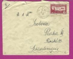 FRANCE Lettre De RY SEINE MARITIME Avec PA 5  La TCHECOSLOVAQUIE - Marcophilie (Lettres)