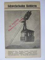 Rare! Italy/Austria-Bolzano/Bozen-Schwebebahn Kohlern/The Kohlern Cable Car,advertising Unused Austrian Post.around 1915 - Bolzano (Bozen)