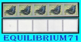 "R118** Num/genum (vert Pointu) - Papillon / Vlinder ""Petit Mars Changeant"" - BELGIQUE - Coil Stamps"