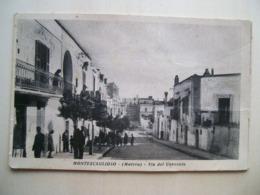 1955 - Matera - Montescaglioso - Via Del Convento - Tricarico -  Animata  Cartolina D'epoca Originale - Ed. N. Carriero - Matera