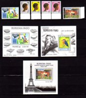 Burkina 1994, Football, Coiffures, « Paris1994 », Oiseau, Entre 887 Et 895**+ BF 45 / 47**, Cote 66 € - Burkina Faso (1984-...)