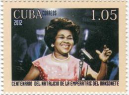 Lote CU2012-29, Cuba, 2012, Sello, Stamp,  Centenario Del Natalicio De La Emperatriz Del Danzonete, Singer, Music, Woman - Cuba