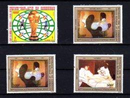 Cameroun 1982, Football, Peintres ; Braque Et Manet, 705 Et PA 314 / 315**, Cote 32,50 € - Cameroun (1960-...)