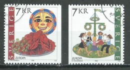 Suède YT N°2041/2042 Europa 1998 Festivals Nationaux Oblitéré ° - Europa-CEPT