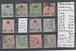 TIMBRE D ALLEMAGNE NEUF/ */ ,OBLITEREES ( WURTTEMBERG)1906 Nr VOIR SUR PAPIER AVEC TIMBRES COTE 257.0  € - Wuerttemberg