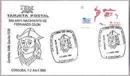500 Aniv. Nacimiento De FERNANDO COLON. Cordoba, Andalucia, 1989 - Cristóbal Colón