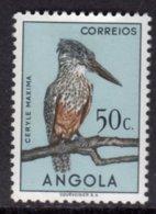 ANGOLA - 1951 50c GIANT KINGFISHER BIRD STAMP MOUNTED MINT MM * SG 462 - Angola