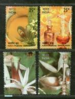India 2019 Sandalwood Jasmine Aroma Scented Fragrant Miniature Stamps Set 4v MNH - India