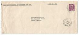 GANDON N°724 SEUL LETTRE FORMAT AMERICAIN AVION PARIS 26.4.1946 POUR ENGLAND AU TARIF - 1945-54 Marianne Of Gandon