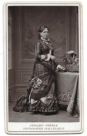 Photo CDV Portrait De Femme - Fin 19e - Phot. Inaltérable Au Charbon Géruzet Frères Bruxelles - Foto's