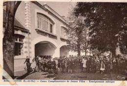 41. CPA. ROMORANTIN.  Cours Complémentaire De Jeunes Filles - Enseignement Ménager.  1946. - Romorantin