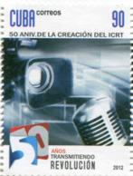 Lote CU2012-31, Cuba, 2012, Sello, Stamp, 50 Aniversario De La Fundacion Del ICRT, Radio - Cuba