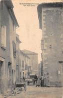 CPA SAINT-CHRISTOL (Vaucluse) - Rue De La Croix - Andere Gemeenten