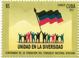 Lote CU2012-1, Cuba, 2012, Sello, Stamp, Cent De La Fundacion Del Congreso Nacional Africano, African National Congress - Cuba