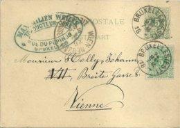 "1887 - Carte Postale - ""BRUXELLES (EST)"" Vers Vienne (Autriche) - Stamped Stationery"