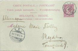 """1894 - Carte Postale - """"COUILLET"""" Vers Magdeburg (Allemagne) - Stamped Stationery"""