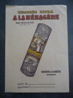 """Ancien Protège-cahier Couverture """"Chicorée Extra A LA MENAGERE"""" """"Duroyon Et Ramette CAMBRAI"""" - Protège-cahiers"""