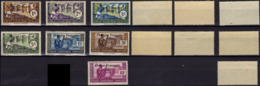 AEF Afrique Equatoriale Française 156 à 159 160b 161 162 ** MNH Surcharge Afrique Française Libre De 1941 (CV 25,86 €) - A.E.F. (1936-1958)