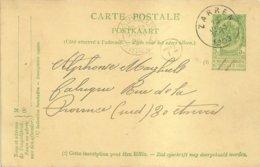 "1909 - Carte Postale - ""ZARREN"" Vers Anvers - Stamped Stationery"