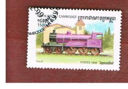CAMBOGIA (CAMBODIA)  -  SG 1836 - 1999  STEAM LOCOMOTIVES: 4-6-0   - USED ° - Cambogia