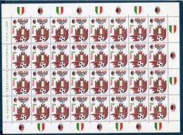 """Italia 1992 """"MILAN CAMPIONE DI ITALIA """" - Fogli Completi"""