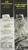 """2 MARQUE- PAGES -THEME """"ILS ONT MARCHE SUR LA LUNE """" EXPO  ST GILLES CROIX DE VIE - Bookmarks"""