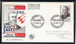 FDC 1959 - 1217  Centenaire De La Naissance De Jean JAURÊS - FDC