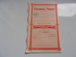 COLONIAL TRUST (1929) - Actions & Titres