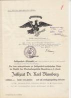 DR Heiligenstadt Eichsfeld / Nazidokument Mit Hakenkreuz - War 1939-45