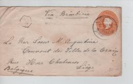 PR7152/ India Entire Letter Calcuta 1900 & Sea Post Office Via Brindisi > Liège C.d'arrivée - India (...-1947)