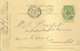 "1908 - Carte Postale - ""FEXHE-LE-HAUT-CLOCHER"" Vers Bruxelles - Stamped Stationery"