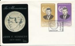 Paraguay FDC 30-7-1964 In Memoriam John F. Kennedy With Folio Print Cachet - Kennedy (John F.)