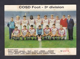 ST SAINT DIZIER Club Omnisports Foot Ball Football COSD 3è Division Credit Agricole Tirage Numéroté N°2519 - Saint Dizier
