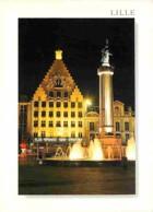 59 - Lille - La Grand Place - La Voix Du Nord - Vue De Nuit - Carte Neuve - Voir Scans Recto-Verso - Lille
