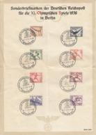 DR Satzblatt Olympische Spiele 1936 - Allemagne
