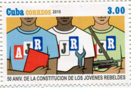 Lote CU2010-45, Cuba, 2010, Sello, Stamp, 50 Aniv De La Constitucion De Los Jóvenes Rebeldes, Young Rebels - Cuba