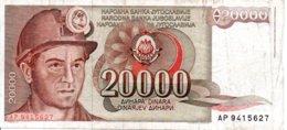 Billet Yougoslavie 1987 - 20 000 Dinara - Yougoslavie