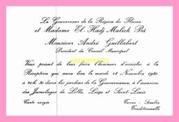 Carton D Invitation DU GOUVERNEUR DE LA REGION DU FLEUVE  (SENEGAL) - Announcements