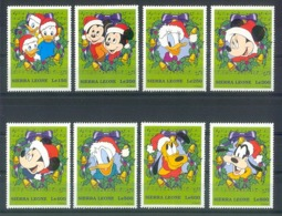 NfeA374 WALT DISNEY DONALD PLUTO MICKEY GOOFY CHRISTMAS HOND DOG MUSIC NOTES SIERRA LEONE 1997 PF/MNH # - Disney