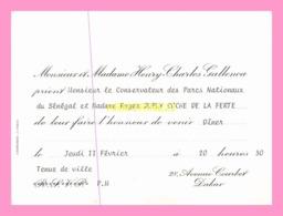 Carton D Invitation  De Monsieur Et Madame HENRY-CHARLES GALLENCA (SENEGAL) - Announcements