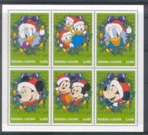 NfeA375b WALT DISNEY DONALD MICKEY CHRISTMAS MUSIC NOTES SIERRA LEONE 1997 PF/MNH - Disney