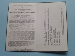 DP Karel BROEKAERT ( D'Hollander ) Zottegem 17 Sept 1878 - 18 Maart 1954 ( Zie Foto's ) ! - Obituary Notices