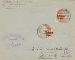 Sint Renelde Vers Leuven (Heverlee) Cachet Numérique De Vérificateur 13 (chiffre Dans Carré) - WW I