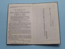 DP Alice BROEKAERT ( Robert De CUBBER ) Sottegem 17 Feb 1889 - 7 Juli 1946 ( Zie Foto's ) ! - Décès